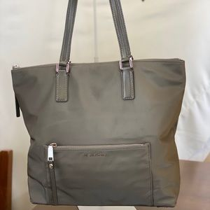 MICHAEL KORS Nylon Dark Grey Large Tote